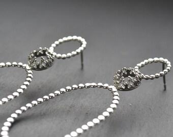 READY TO SHIP. Family Jewel box - silver earrings