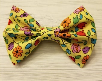 Floral Spring  Hair Bow