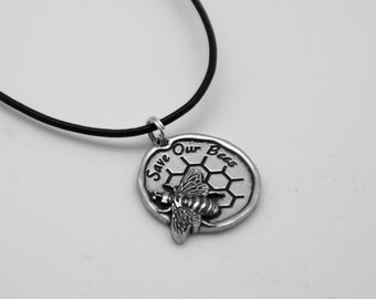 Save our Bees Necklace Symbology by Lois Wagner