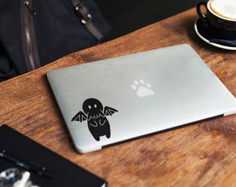 Baby Cthulhu sticker, decal, your choice of color