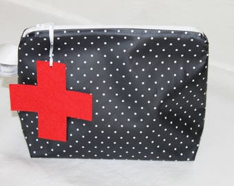 Coated medicine pouch