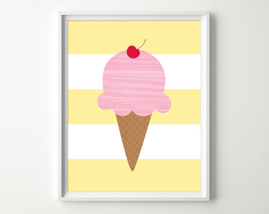 Ice Cream Nursery Decor Kids Ice Cream Decor Ice Cream