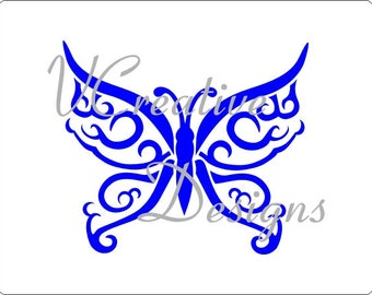 576 Lacy Butterfly stencil