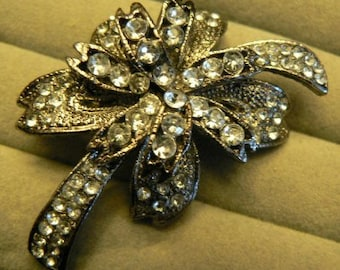 vintage jewels ...   Stunning rare PALM TREE style BROOCH Pin in vintage paste stones   ...