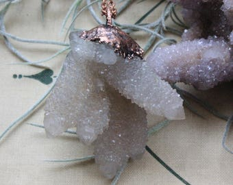 Spirit Ward - White Spirit Quartz Pendant