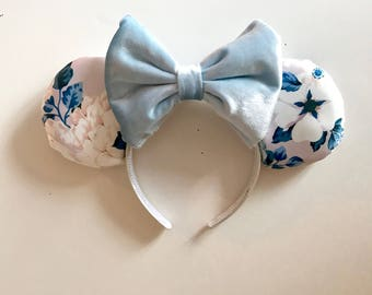Satin Floral Mouse Ears