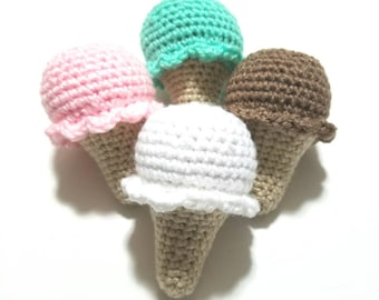 Cat Toy Catnip Ice Cream Cone Small