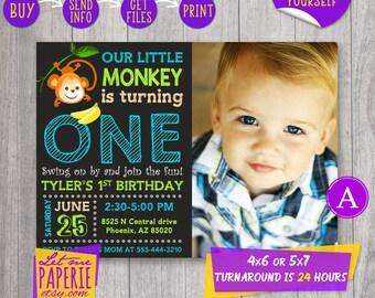 Monkey 1st birthday Etsy