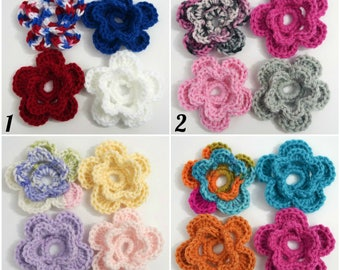 Additional Interchangeable Flowers - Crochet Flowers - Interchangeable Flowers for Crochet Baby Girl Hat