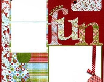 Holiday Fun - Premade Christmas Scrapbook Page