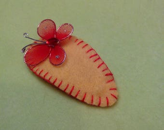 pretty hair clip for a little girl with a butterfly