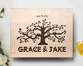 cutting board personalized  wedding gift, anniversary gift, engagement gift, chopping block - Tree of Life wood cutting board - wall art