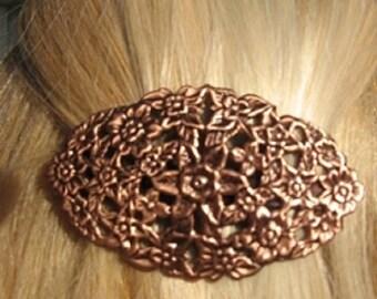 Copper Hair Barrette #4046C