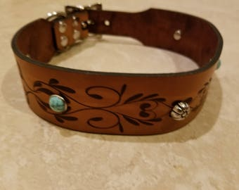 Floral Whimsy Dog Collar