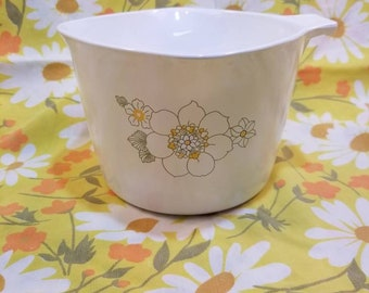 Corning floral bouquet P-55-B, 1 QT sauce maker batter bowl vintage 1970s