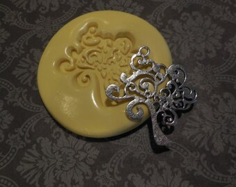 Tree of Life Mold, silicone mold, craft mold, porcelain, resin, jewelry mold, food mold, pop up mold, clays mold, flexible, charms