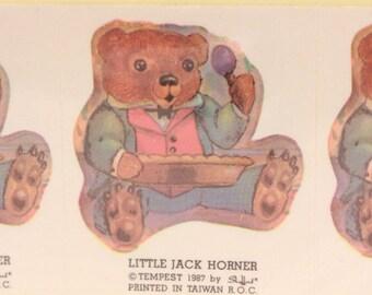 Vintage Tempest Little Jack Horner. 8 Sealed Stickers