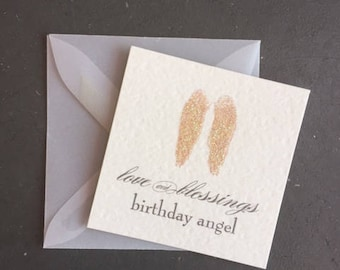 Birthday Angel (Enclosure Card)