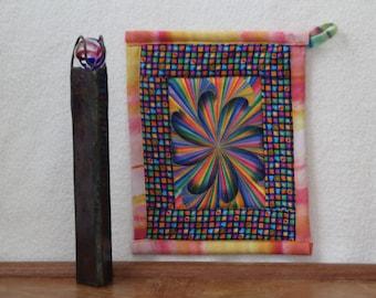 Potholder Third Dimension Twirling Pinwheel