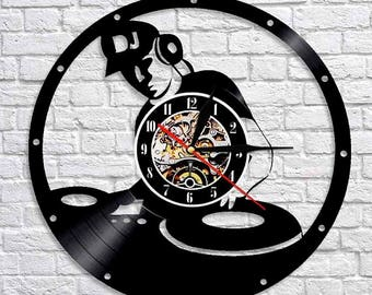 Best Gift For Dj Vinyl Record Wall Clock