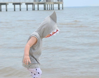 Shark Hoodie, Shark Sweatshirt, Shark Costume, Dress Up Clothes, Shark Pullover, Shark Play Clothes, Birthday, Tank Hoodie