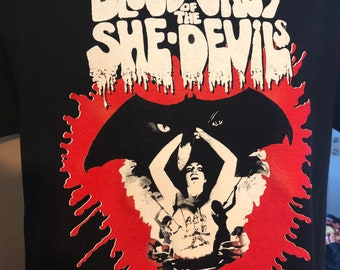 Blood Orgy Of The She-Devil Movie T-Shirt