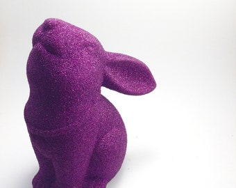 Pink Glitter rabbit statue sparkle animal