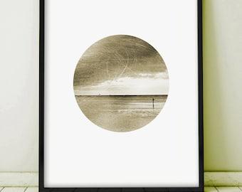 Wall Art Printable, Printable Photography, Sepia Prints, Printable Art, Vintage Art, Sea Print, Ocean Print, Cloud Print,Boat Print,Wall Art