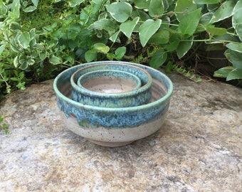 Mint 3 Piece Serving Bowl Set