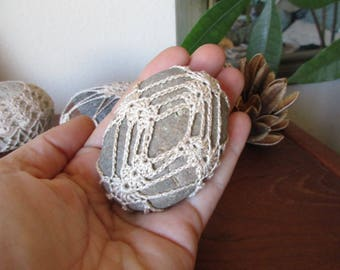 Crochet Meditation Stone #64