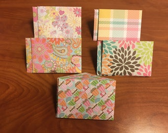 Spring Themed Mini Envelopes, Gift Card Size, Pack of 10