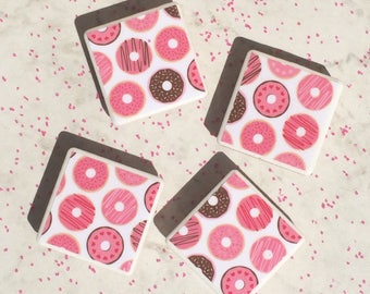 Donut magnets, fridge magnets, donut gifts, home decor, housewarming gifts, fun gifts, donut lover, tile magnets, doughnuts, doughnut gifts