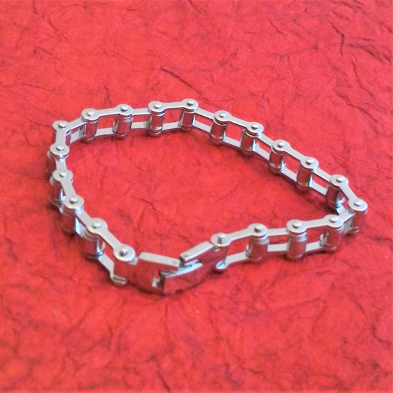 Women's Bicycle Chain Bracelet, Bike Chain Jewelry, Men's Punk Chain Bracelet, Gifts for Cyclists Bikers, Bicycle Chain Team Coach Gifts