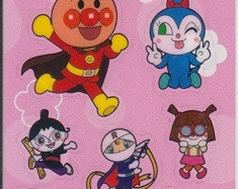 Anpanman Stickers - Pink - Reference N2880A4707