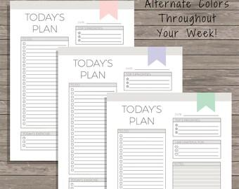 Daily Planner - Planner Printable - Daily Planner Printable - Goal Planner - To Do List - 2018 Planner - To Do List Printable - Daily To Do
