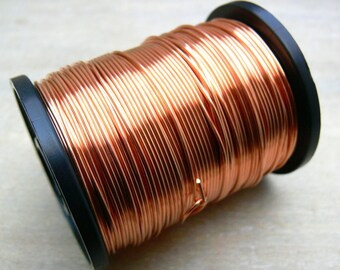 0.9mm round copper wire - 19 g copper wire - bare copper wire - jewelry making supplies - wire wrapping supplies - jewelry wire - WCW019, 5m