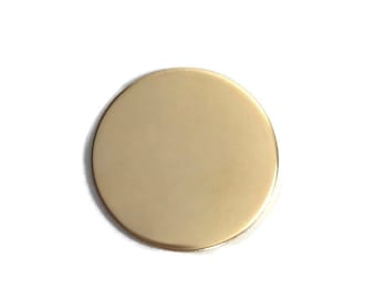 1 3/8 inch 22 Gauge GOLD FILL Round Circle Discs Jewelry Stamping Supplies