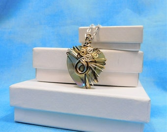 Graduation Gift for Her Wire Wrapped Heart Necklace Artistic Handmade Artisan Crafted Crystal Pendant Unique Wearable Art Jewelry Present