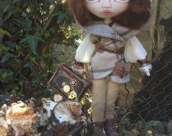 OOAK Steampunk doll, handmade cloth doll,  art doll,  one of a kind doll, time traveller doll, soft sculpture, textile art