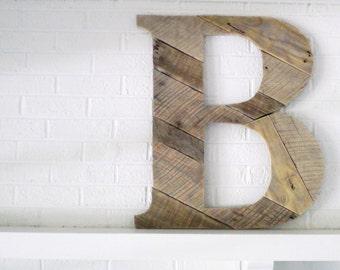 Large Letter B Wooden Letter Wall Art Industrial Modern Art