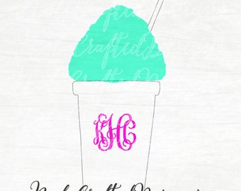Snowball Svg - Summer Svg - Snoball Svg - Southern Svg - Louisiana Svg - New Orleans Svg - Dxf, Png, Cut file, for Silhouette or Cricut