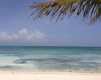 Tropical beach photograph, Cancun ocean print, beach house gift, beach home decor, paradise seascape