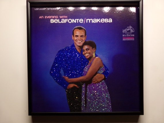 Glittered Record Album - Belafonte and Makeba - An Evening With