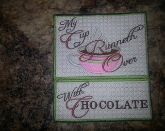 Hot Chocolate Time Mug Mat