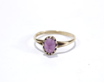 Amethyst Oval Upside Down Mounted Solitaire Ring