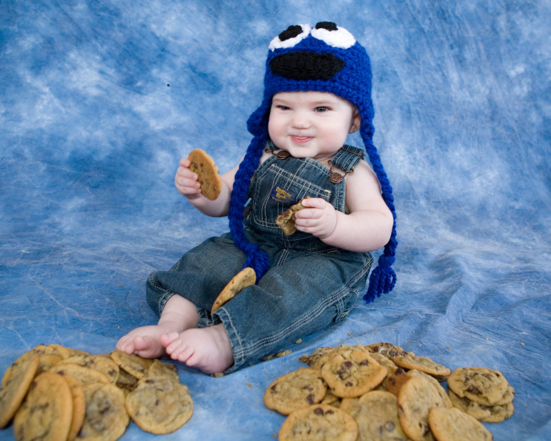 Cookie Monster Hat Pattern Crochet Pattern Sesame Street