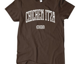 Women's Chichen Itza Tee - S M L XL 2x - Ladies Chichen Itza Mexico T-shirt - 4 Colors