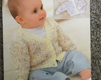 "Sirdar confetti DK knitting pattern 1589 baby cardigan 16""-26"" chest (E07)"