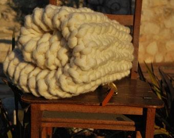Plaid laine 100 % naturelle mérinos