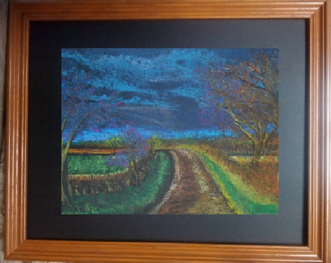 "11x14 Original Pastel Painting, Landscape Artwork, ""Fall Colors"""